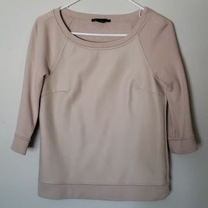 Armani Exchange faux leather top